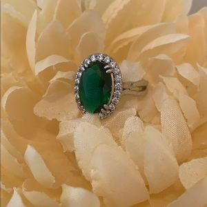 Faux Green Emerald Ring